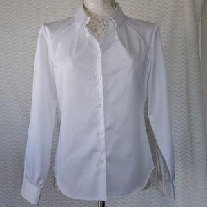 Petite White ladies Pendleton dress blouse